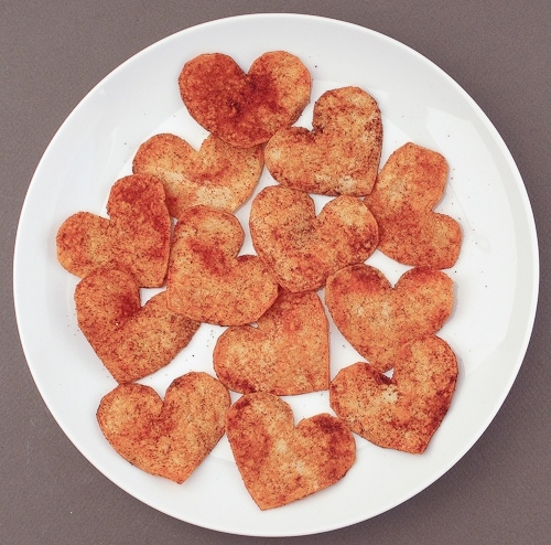 Spicy Heart Paprika Tortilla Chips